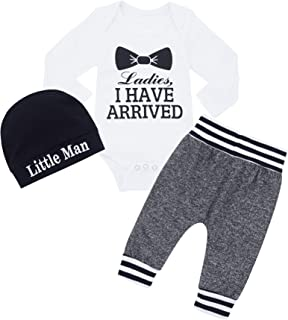 Newborn Baby Boy Clothes Outfit Long Sleeve Bodysuit...