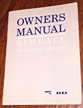 KIMBALL EP SERIES ORGANS Owners Manual; Computer by E Elka