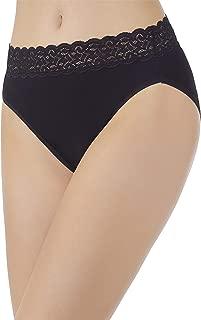 Women's Flattering Lace Cotton Stretch Hi Cut Panty 13395