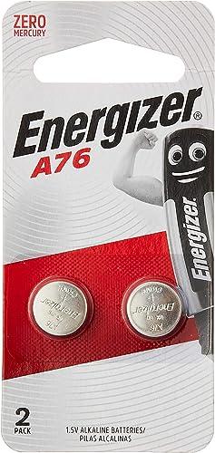 Energizer A76 LR44 MAX- SP COIN Alkaline 1.5V Batteries, 2 Pieces