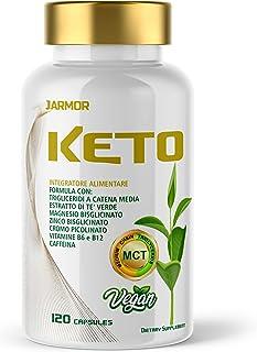 Jarmor KETO Diet Pillole Dimagranti Brucia Grassi Potenti Veloci Efficaci Dieta Chetogenica 120 cps