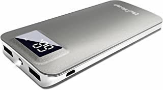 Uni-Yeap 11000mAh Battery Charger Power Bank with Safety High-Speed Charging Conversion System and Flashlight with LCD Screen for iPhone Xs Xr X 8 7 6s 6, iPad Samsung Galaxy and All Smart phone(Grey)