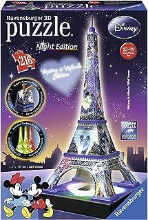 Ravensburger- Puzzle 3DTorre Eiffel Night Disney 216 Piezas (12520)