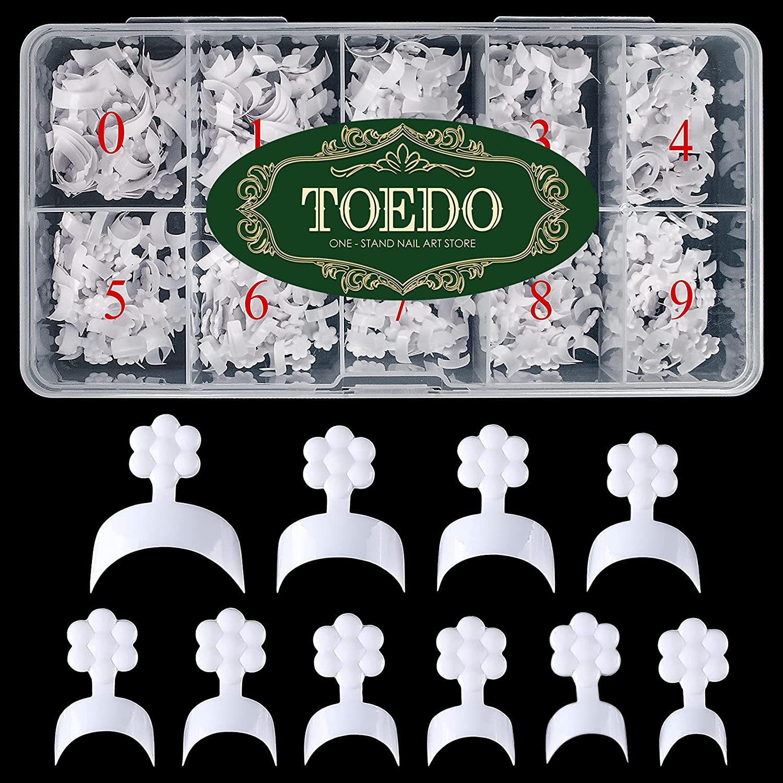 TOEDO French Short Style Acrylic Challenge the lowest price 500PCS Nail Genuine Free Shipping False White F