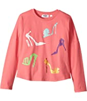 Moschino Kids - Long Sleeve High Heels Graphic T-Shirt (Big Kids)