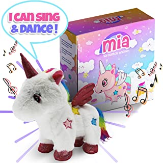 CEER'S Mia The Magical Unicorn Toy for Girls with Walking Singing Light-Up Action Rainbow Toy for Child Development Great for 2 3 4 Year Old Girls