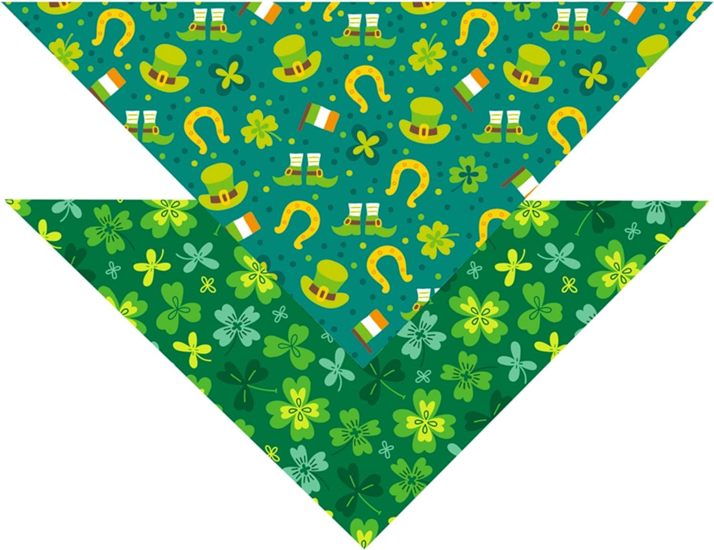 It is very popular St. Patrick Dog Cat Bandana overseas Irish Scar Shamrock Holiday
