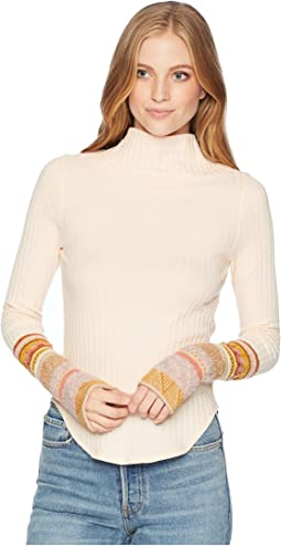 81d552984a33f Peach. 91. Free People. Mixed Up Cuff Top