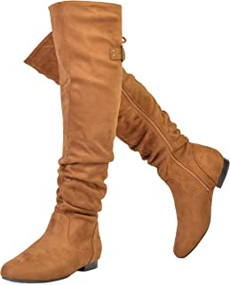11241c573bb DREAM PAIRS Women s Fashion Casual Over The Knee Pull On Slouchy Boots