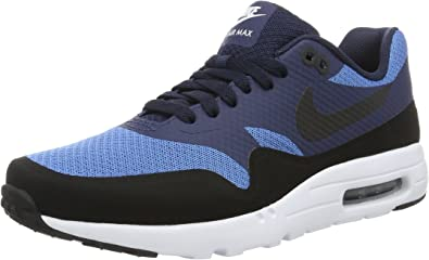 Nike Men's Air Max 1 Ultra Essential Shoe (819476-401) - Star Blue/Black/Obsidian/White