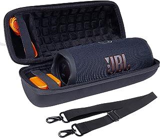 Hart Reise Schutz Hülle Etui Tasche für JBL Charge 4 / JBL Charge 5 Tragbarer Bluetooth Lautsprecher von co2CREA (Schwarz)
