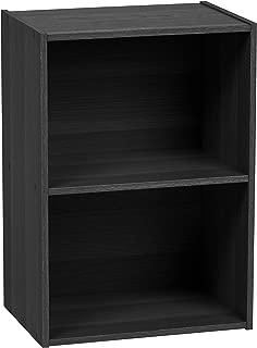IRIS USA 2-Tier Wood Storage Shelf, Black