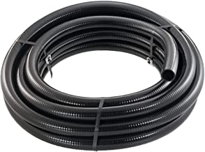 Little Giant 566183 T-11/2-50 BFPVC Flex PVC Tubing, 1-1/2-Inch by 50-Feet, Black