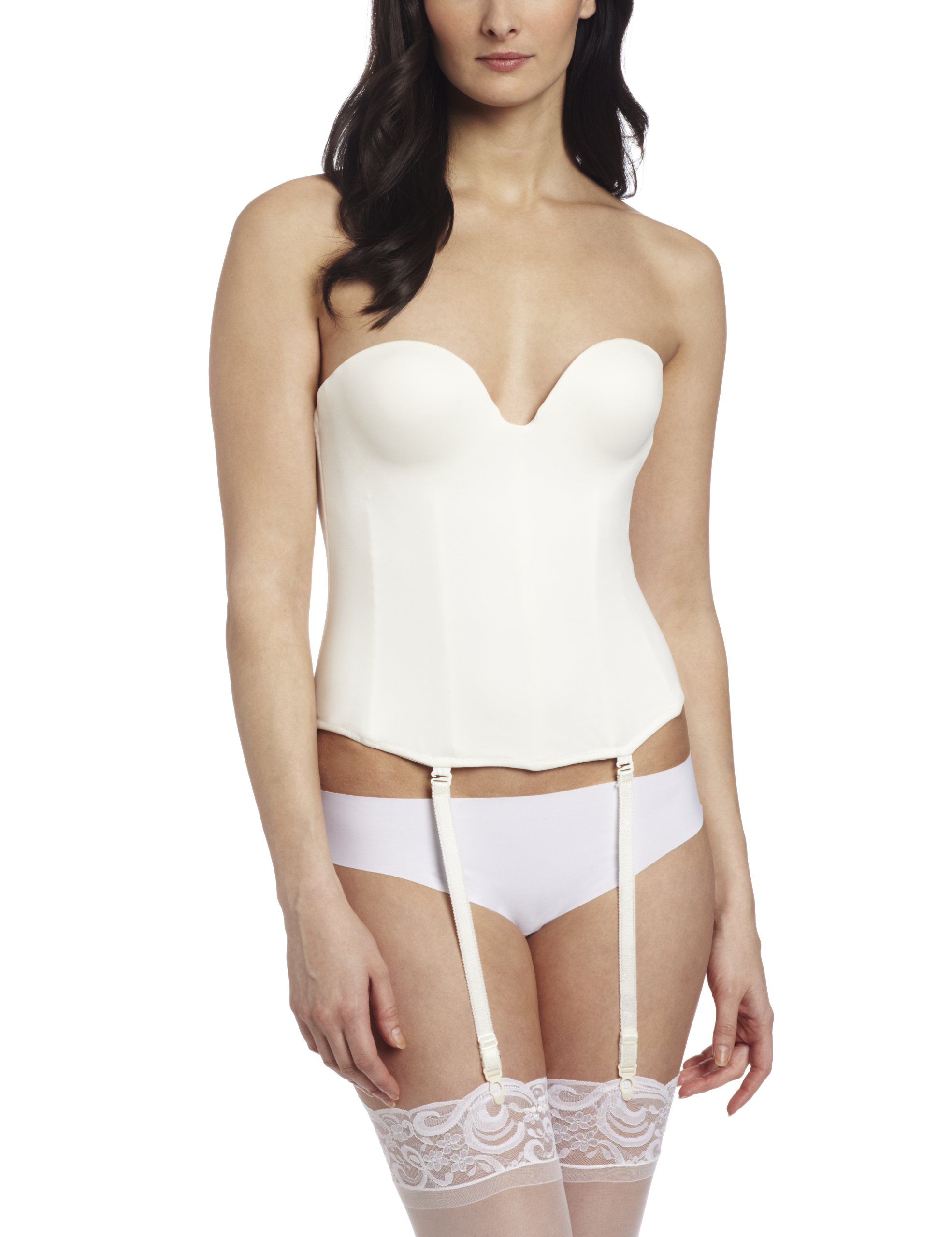 Carnival Women's Low Plunge Backless Seamless Molded Corset Bra