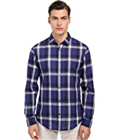 Vince - Long Sleeve Graphic Plaid Button Up