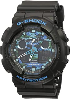 GSHOCK Men's Automatic Wrist Watch analog-digital Display and Resin Strap, GA100CB-1A