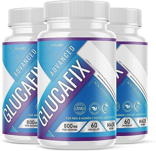 wholesale Glucafix Gluca Fix Glucofix Advanced wholesale Diet Pills Weight Management Burn Supplement Blood Sugar 2021 Support (3 Pack) online sale