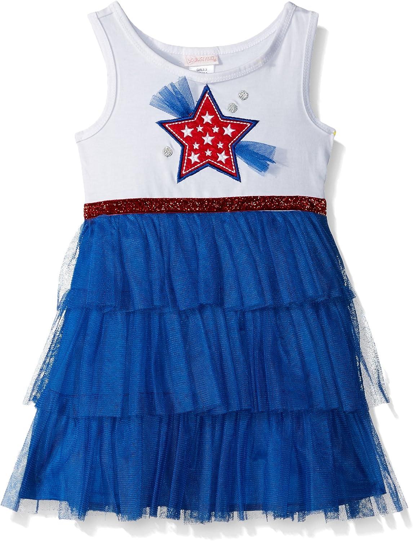 Youngland Girls' Americana Applique Tutu Dress