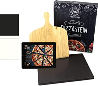 Dolce Mare® Pizza Stone - Pierre à Pizza en cordiérite de Haute qualité pour Le Four et Le Gril - Brique pour Pizza croust...