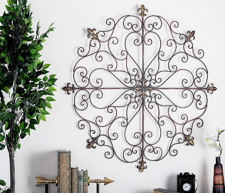 Wrought Iron Fleur De Lis Wall Decor from m.media-amazon.com