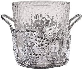 Arthur Court Designs Aluminum and Glass Grape Champagne Ice Bucket - Diameter 10.5