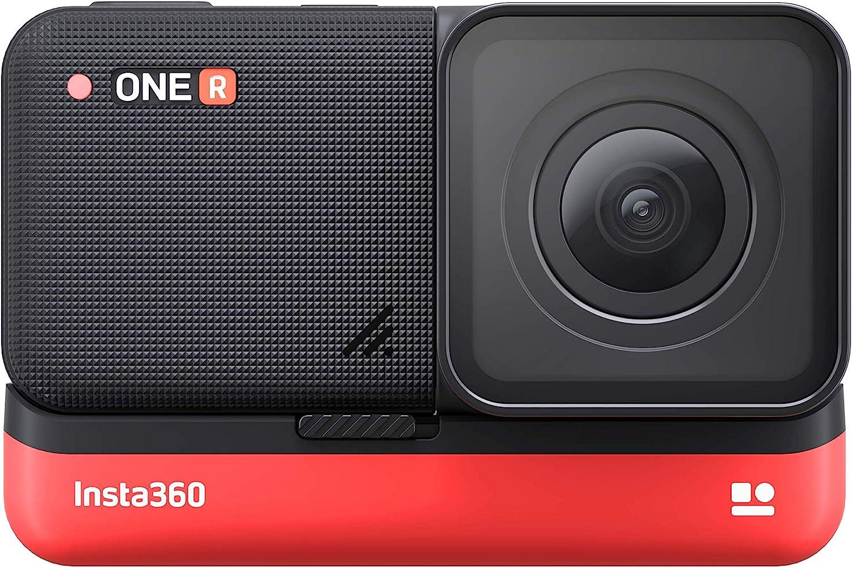 Insta 360 - VR Action Camera - One R editio n Range - Lente de Gran Angular 4K - Apertura de Iris F2.8 - Funciones HDR y Color Plus