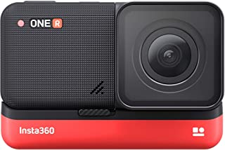 INSTA360 ONE R 5.7K Panoramic Sports Action Camera 4K 60fps Wide Angle FlowState Anti-Shake IPX8 Waterproof (4K Edition)