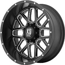 XD Series by KMC Wheels XD820 Grenade Satin Black Wheel with Milled Spokes (20x10