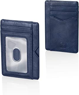 Card Wallet: Minimalist Wallet for Bills and Cards with ID Window and RFID Block