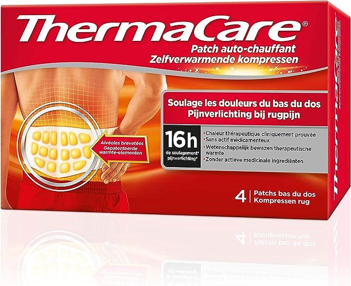 Thermacare – patch auto-riscaldante per la schiena, allevia i dolori nella parte bassa - 4 cerotti F00573301015Z