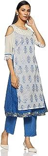 Trishaa By Pantaloons Women's Chanderi A-Line Dress