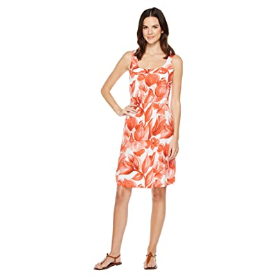 Tommy Bahama Painterly Petals Short Dress (Blazing Orange) Women