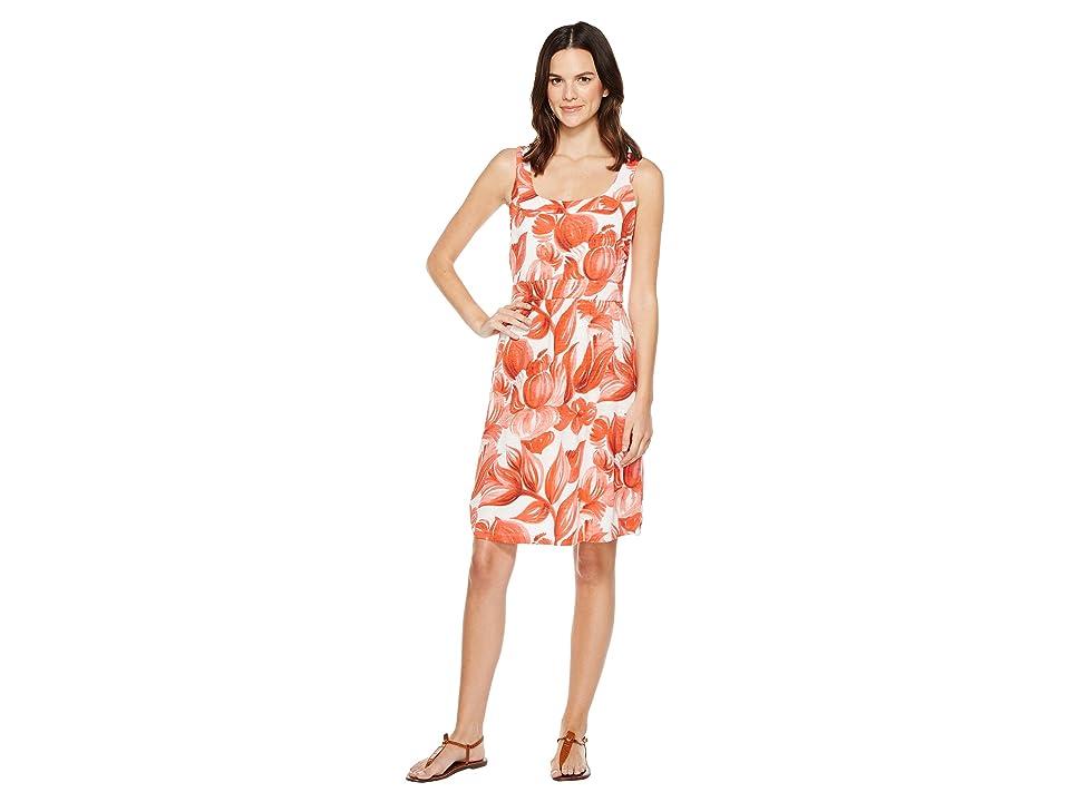 Tommy Bahama Painterly Petals Short Dress (Blazing Orange) Women