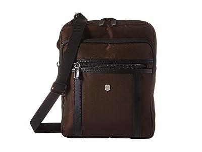 Victorinox Werks Professional 2.0 Crossbody Tablet Bag (Dark Earth) Bags