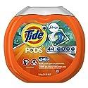 Tide Pods Plus Febreze Laundry Detergent Packs, Botanical Rain Scent, 54 ct