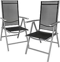 Dimensione:2pz-Set Colore:Grigio Chiaro CCLIFE Set 2 pz sedie in Alluminio sedie Pieghevoli Impermeabile e Resistente al Sole