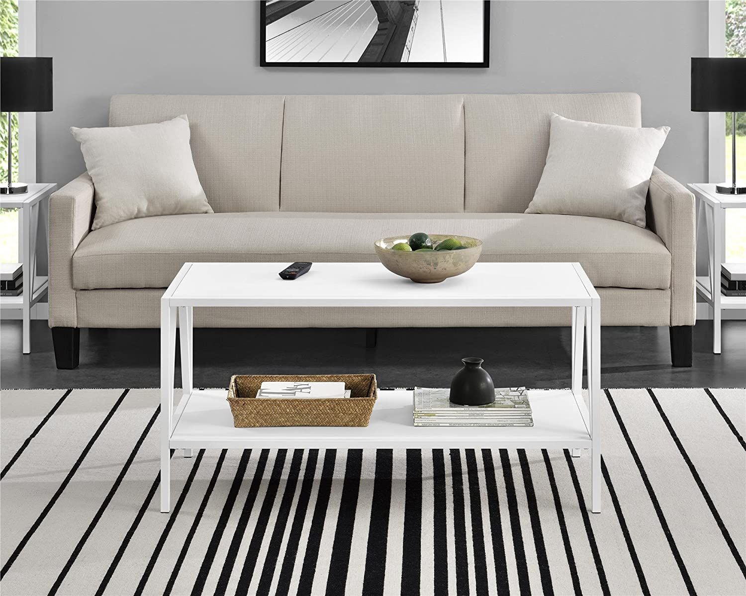 Ameriwood Home Avondale Coffee Table, White