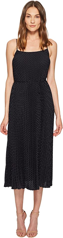 Vince - Polka Dot Pleated Cami Dress
