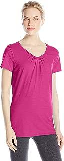 Women's Shirred V-Neck T-Shirt