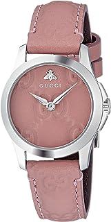 Gucci - Reloj Análogo clásico para Mujer de Cuarzo con Correa en Cuero YA126578