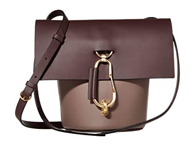 ZAC Zac Posen Belay Crossbody Color Block (Eggplant) Cross Body Handbags