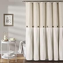 Lush Decor Button Shower Curtain, 72
