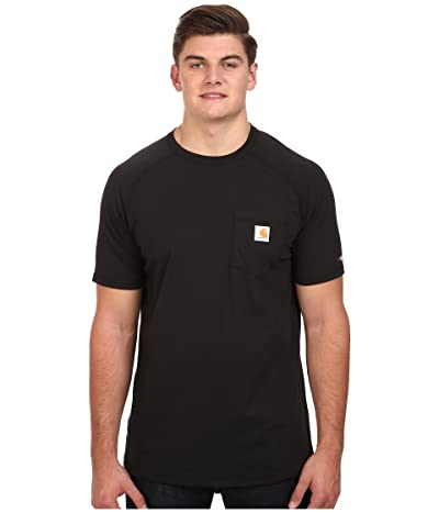 Carhartt Big Tall Force Cotton S/S T-Shirt (Black) Men