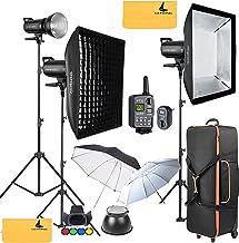 GODOX SK400II 1200W 2.4G Photography Flash Studio Strobe Kit Three 400w Sk400II Monolight Lighting,Includes 3X 400W SK400II Strobe Light+3X Light Stand+2X 60X90 CM Soft Box+2X Standard Reflector+XT-16