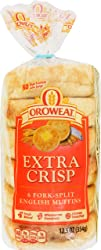 Oroweat Extra Crisp English Muffins, 6 ct, 12.5 oz