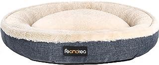 FEANDREA Dog Bed, Pet Sofa for Dog, Cat, Donut Shape, Anti-Slip, Washable, Round