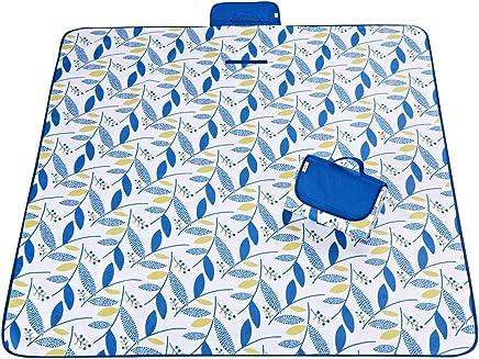ZGYZ Outdoor Blau Picnic Blanket Wasserdichte Extra Große Picknickdecken Sand Proof und Tragbare Strandmatte Kinderspielmatte Perfekt für Camping Wandern Festivals Beach Trips, waschbar,145  200 B07NYXNWNN | Üppiges Design