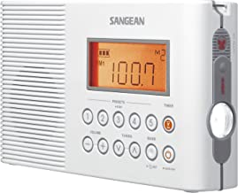 Sangean H201 Portable AM/FM/Weather Alert Digital Tuning Waterproof Shower Radio