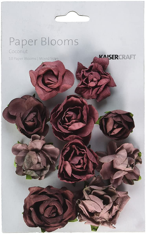 Kaisercraft Aubergine Paper Blooms