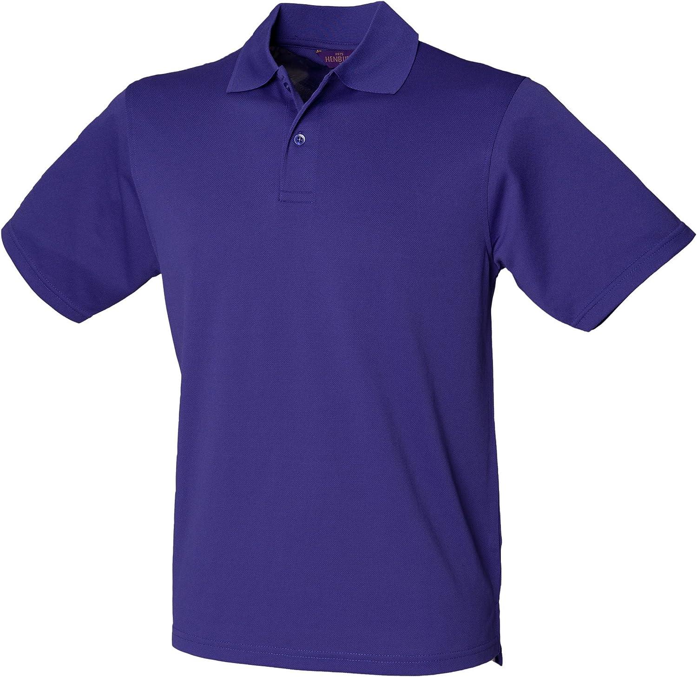 Henbury Mens Coolplus Pique Polo Shirt